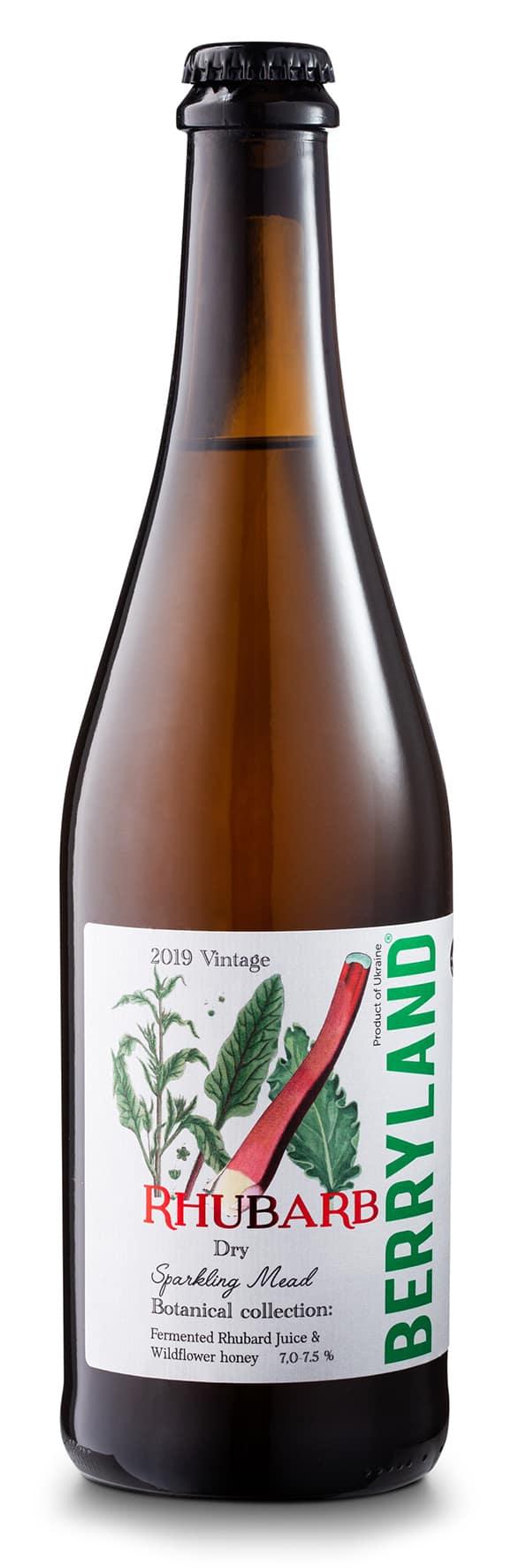 Berryland Rhubarb & Mead Sparkling Fruit Wine 2019